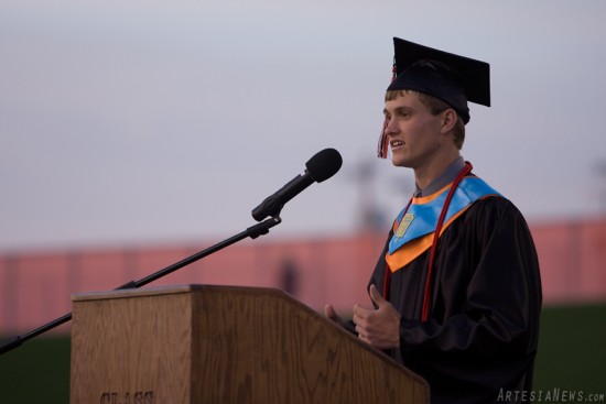 """Christopher Worley delivers his speech titled """"The Motions."""""""