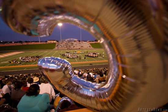 Family and friends filled the stands of Bulldog Bowl to witness the 2011 graduating class receive their diplomas. Several family members brought balloons in the shape of letters to spell out their graduates names in the stands.