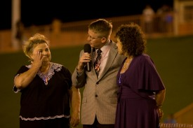 AHS Principal Thad Phipps, center, recognizes AHS employees Leah Williams, left, and Robin Jackson who will be retiring following the 2011 school year.