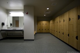 The multi-department locker room.