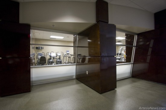 The multi-department fitness room.