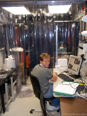 The experiment's laboratory connex was established in the WIPP underground in 2010. (Photos courtesy of Department of Energy)