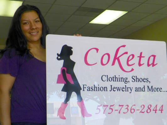 Sara Torres stands in her women's clothing store, Coketa, which officially opens Monday at 10 a.m. (Elizabeth Lewis – Daily Press)