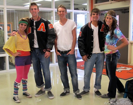 Students are showing their school spirit this week by dressing up