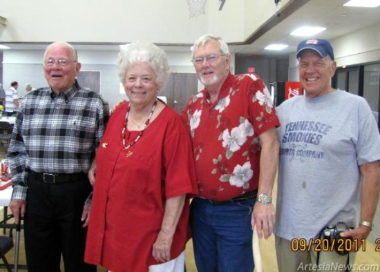 Pictured from left are Dr. Bill Thorn, Norma Savage-Lewis, Butch Neal and Dayton King. (Courtesy Photo)