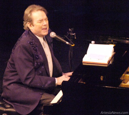 """American songwriter, composer, singer and Grammy winner Jimmy Webb performs """"Up, Up and Away"""" during a concert Saturday evening at the Ocotillo Performing Arts Center. Webb entertained an enthusiastic crowd with hits such as """"By the Time IGet to Phoenix,"""" """"The Worst that Could Happen"""" and """"MacArthur Park"""" as well as stories from his years of songwriting for some of music's legends, such as Frank Sinatra, Art Garfunkel and Glen Campbell. Brienne Green - Daily Press"""