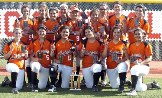 The Lady Bulldog softball team capped off a dominant run through their 16th annual home tournament Saturday at the Mack Chase Athletic Complex, shutting out Hobbs 8-0 in the championship game. Over the course of three games, the Lady 'Dogs allowed just a single run. See Page 2 for full details. Brienne Green - Daily Press