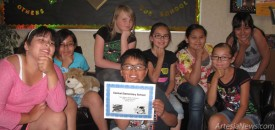 Central Elementary School's Knowledge Masters Open team took first in the state in the recent competition. They are, from left, Katarina Ramirez, Cheyanne Parson, Honesti Calderon, Omar Renteria, Ziana Simonton, Nayeli Renteria, Demree Alvarado and Jerlisah DeLaRosa. See Page 5 for Yucca, Hermosa and Roselawn KMO participants. Grace Miller - Daily Press