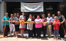Members of the Artesia Chamber of Commerce and Artesia Trailblazers join owners Krizel and Tania Rodriguez for a recent ribbon cutting at Encore Cupcakes, located at 314 W. Main St., adjacent the Ocotillo Performing Arts Center. Grace Miller - Daily Press