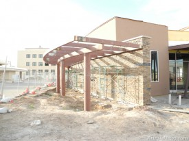 There is still work to be done inside and out at the Library, but completion is right around the corner. Liana Swarengin-The Artesia Daily Press