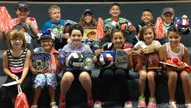 Top ticket sellers in Yeso Elementary School's annual enchilada dinner fundraiser display their prizes. The top seller was Randall Hamilton, who sold 155 tickets. Pictured are, front row from left, Harlee Walker, Ashley Westall, Miranda Molina, Kaelyn Greathouse, Lauryn Parker, Madison Martinez, back row from left, Taylor Byers, Hamilton, Chloe Yates, Gage Jimenez, Braden Fuentes and Tessa Yates. Sponsors for the prizes were Terry's Electronics, Burger King, First American Bank and Stylish Stitches. The enchilada dinner will be held from 4:30-7 p.m. Friday, Sept. 13, at Artesia (Park) Junior High. Courtesy Photo