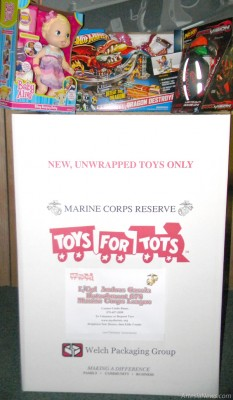 The Artesia Daily Press, 503 W. Main St., and CVE, 1403 N. 13th St., are the official drop-off locations for the L/Cpl. Andres Garcia Detachment 678 Marine Corps League's Toys for Tots drive. Toys may be dropped off in the available boxes until Christmas. For more information, call the Daily Press at 746-3524 or CVE at 746-3571.
