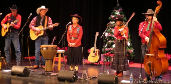 The Flying J Wranglers entertain the crowd Thursday at the Ocotillo Performing Arts Center on the second night of their White Mountain Christmas program. Grace Miller - Daily Press