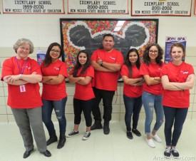 Pictured from left are Artesia High School BPA advisor LaVerne Obenhaus and BPA leaders Cassandra Alferez, Cecilia Olivas, Graham Burnside, Amanda Levrie, Yesina Valles and Savannah Young.   Grace Miller – Daily Press