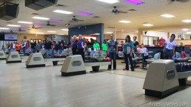 Bowlers pause during the Roswell/Artesia USBCA Tournament held recently at Artesia Lanes. A total of 27 teams competed, numbers that doubled in Artesia from last year's tournaments in Roswell, Carlsbad and Hobbs.  Courtesy Photo