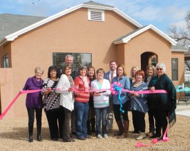 Representatives of the Artesia Chamber of Commerce and Artesia Trailblazers, and Pregnancy Help Center staff, from left, Sue Kizer, Olympia Posey, Perry Troublefield, Sondie Stockton, Jessica Prude, Vickie Grousnick, Amanda Ramsey, center director, Jessie Brownfield, Tejay Zuniga, center volunteer, Debbie Vanderveen, Jamie Heady, center volunteer, Hayley Klein and Susie McCaw gather Tuesday for a ribbon cutting celebrating the center's grand opening. The Pregnancy Help Center, located at 610 W. Quay Ave., offers pregnancy counseling, free pregnancy testing, and pregnancy options for a variety of circumstances.   Teresa Lemon – Daily Press