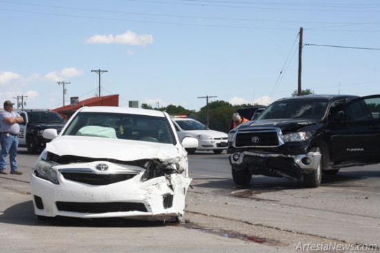 A Car Accident Occurred This Morning At The Intersection Of First Street And Hermosa Drive Near Brewer Chevron Station Collision Took Place Between