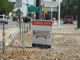 Popular deli chain McAlister's plans to have its incoming Artesia location up and running by this fall. The restaurant will be located in the lot on the southwest corner of Texas Avenue and Main Street, former site of the MVD and Eddy County sub-offices. McAlister's is currently hiring. The location will be the primarily Southern and Midwestern chain's third in New Mexico, with other restaurants based in Carlsbad and Albuquerque.  Brienne Green - Daily Press