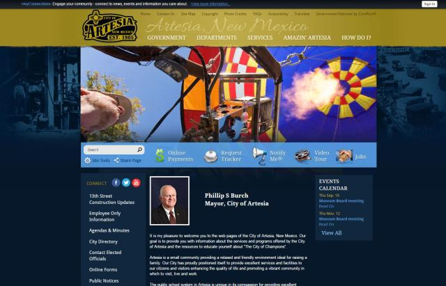 Artesia city website