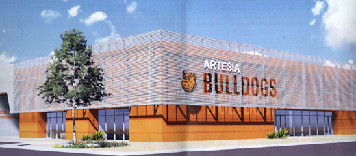 An artist's rendering depicts the new APS Administration Building. Construction of the structure, which will be located at the former site of the AHS Natatorium, is pending. (Courtesy Photo)
