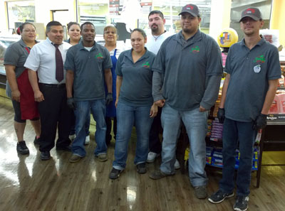 Pictured from left are Fenn's staff Veronica Martinez, Orlando Lopez, assistant manager, Francisca Leon, Lemyron Bishop, Gloria Couture, Crystal Soto, Troy Brown, Mando Estrada and Joshua Kimbrough. (Brienne Green - Daily Press)