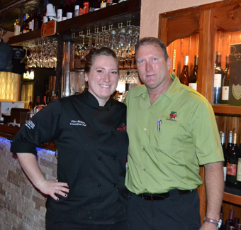 Chef Chloe Winters poses with her father, Tom Winters. (Courtesy Photo)