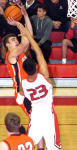 Justin Houghtaling delivers a pair in the second quarter Tuesday against the Coyotes. (Brienne Green - Daily Press)