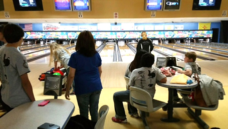 7024U youth who raised money for Big Brothers, Big Sisters enjoy a day of bowling at Bowl for Kids' Sake. (Courtesy Photo)