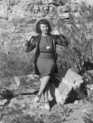 Eddy County's 1939 home extension agent Vernita Conley participates in the wearin' of the green. (Photo Courtesy Artesia Historical Museum)