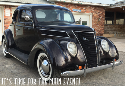 A 1937 Ford 5 Window Coupe street rod, owned by John Metts, sits in his driveway awaiting the upcoming 19th Annual Main Event Car Show and Cruise this weekend. According to Metts, 1937 was the first year Ford had one-piece hoods and solid metal roofs. (Courtesy Photo)