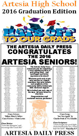 ahs graduation edition included in today s daily press artesia