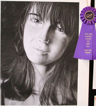 "Best of Show: Michelle Flores - ""Untitled"" (self-portrait)"