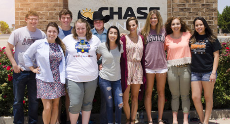 Chase scholar team leaders for 2016 pose for a picture. (Courtesy Photo)