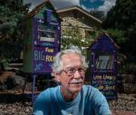 Albuquerque resident Bob Shipley got the idea to use old newspaper vending machines donated by the Albuquerque Journal and turn them into Little Free Libraries. (Roberto E. Rosales - Albuquerque Journal)