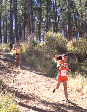 Kimberlee Bennett and Kale Mauritsen compete for Artesia in Ruidoso. (Photos Courtesy Shelley Ebarb)