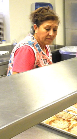 Mary Chavez, APS cafeteria manager, discusses what she enjoys about working for the schools. APS was voted Best Company to Work For in this year's Best of Artesia contest. (Teresa Lemon - Daily Press)