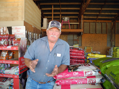 Double D Animal Nutrition and Supply owner Don Spearman. (Teresa Lemon - Daily Press)