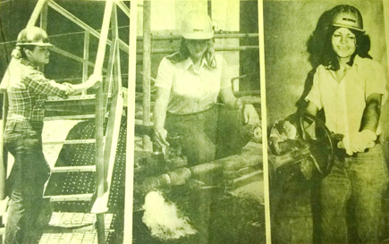 Looking back residents 100th birthday celebrated in 1997 artesia refinery work hard women like it anyway above left deah tice enjoys working outside better than being an assistant boutique manager above center jo solutioingenieria Images